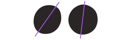 Aufrechte und kursive Satzzeichen unterscheiden sich in der Form