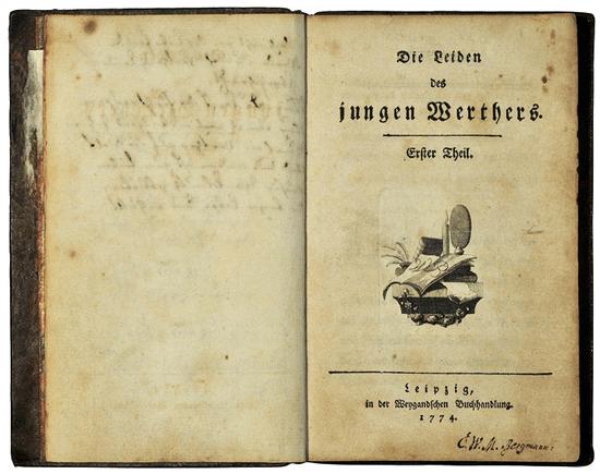 Die Leiden der jungen Werthers. Erstausgabe.