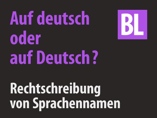 Auf Deutsch Oder Auf Deutsch