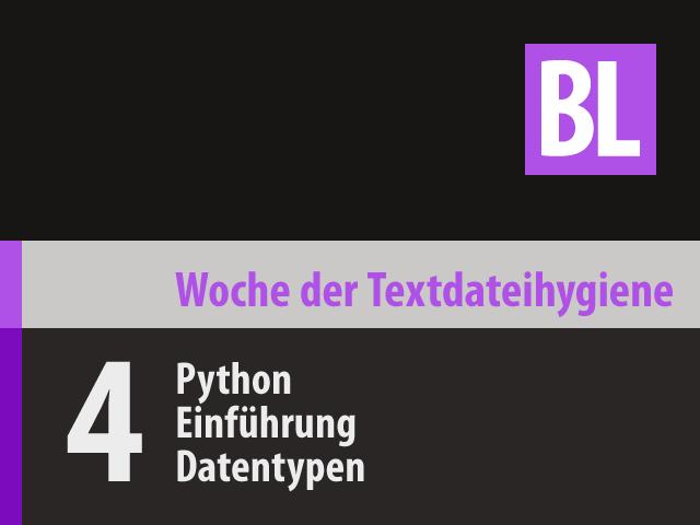 Python: Einführung in Datentypen (WTH‑04)